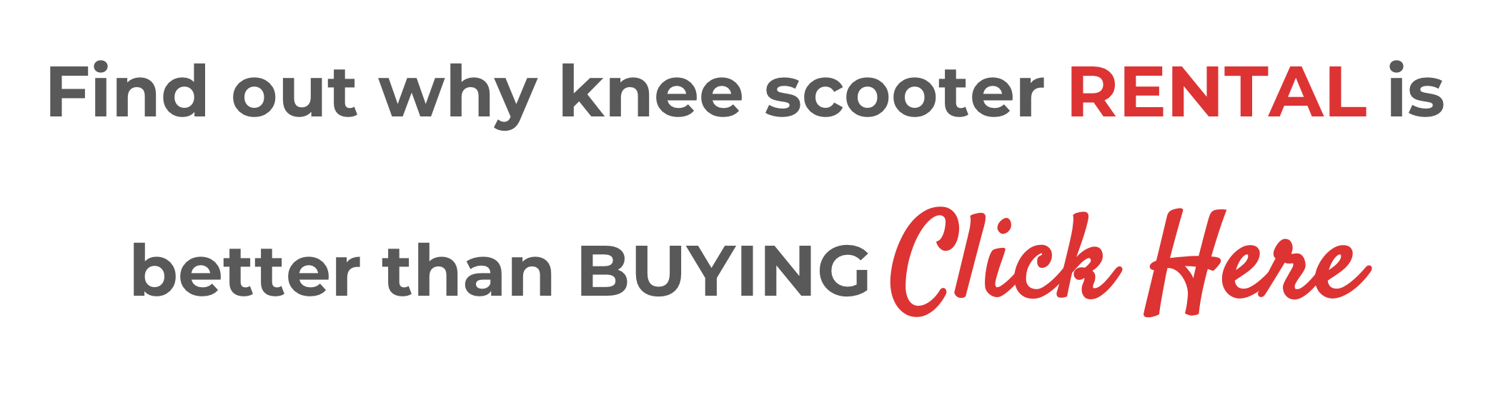 knee scooter rental